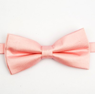 Take A Bow Pink Satin Overlap Bow Tie Solid Men's Tie