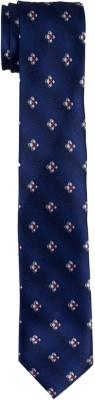 DnH Dnh Men,S Printed Normal Necktie Royal Blue B325 Printed Men's Tie
