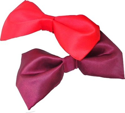 Wholesomedeal Red And Maroon(006) Solid Men's Tie