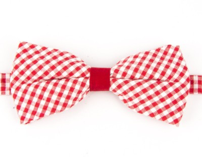 Take A Bow Red Checkered Overlap Bow Tie Checkered Men's Tie