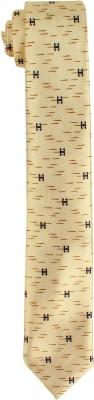 DnH Dnh Men,S Printed Normal Necktie Cream B324 Printed Men's Tie