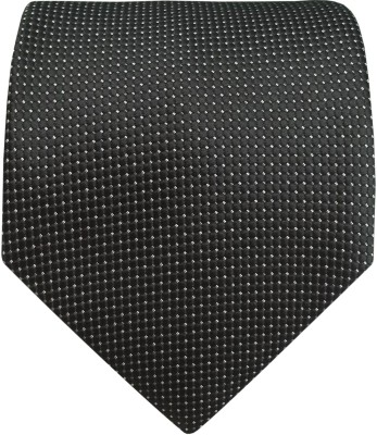 Silk and Satin Polka Print Men's Tie