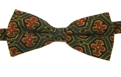 Take A Bow Ajrak Abstract Overlap Bow Tie Printed Men's Tie