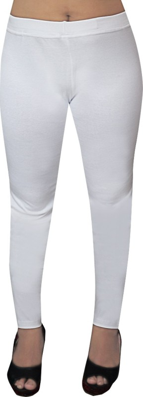O' Womaniyah! Solid Women's White Tights