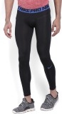 Nike Solid Girl's Black Tights