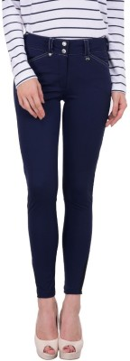 JumpUSA Solid Women's Blue Tights at flipkart