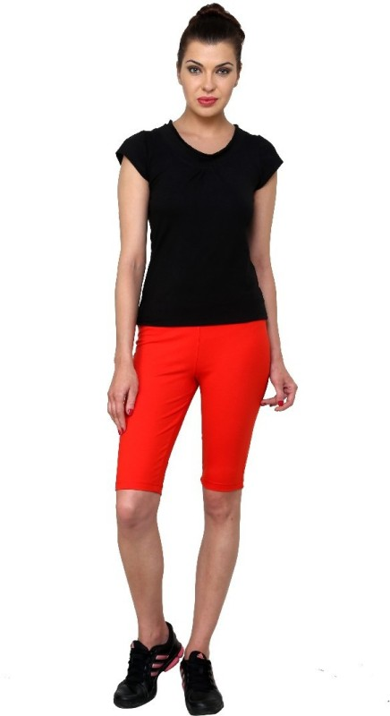 Casual Tees Solid Women's Red Tights