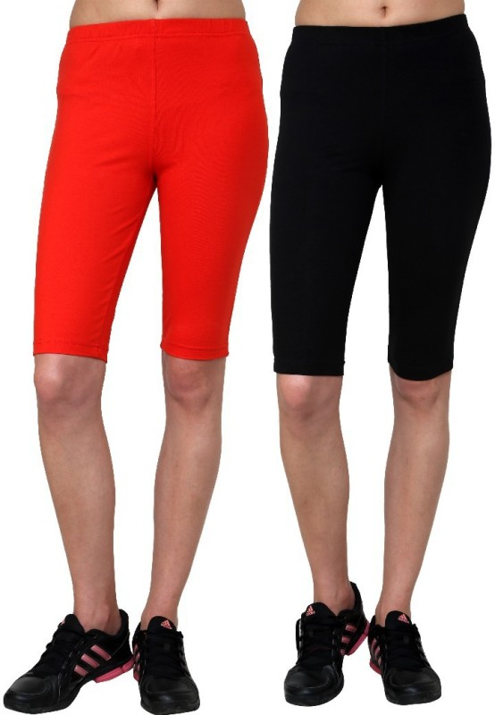 Casual Tees Solid Women's Black, Red Tights