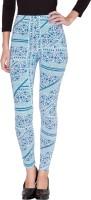 Alibi Printed Women's Blue Full Length Tights best price on Flipkart @ Rs. 550