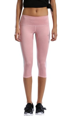 HRX by Hrithik Roshan Solid Women's Pink, Grey Tights at flipkart