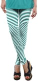 Femmora Striped Girls Green Tights