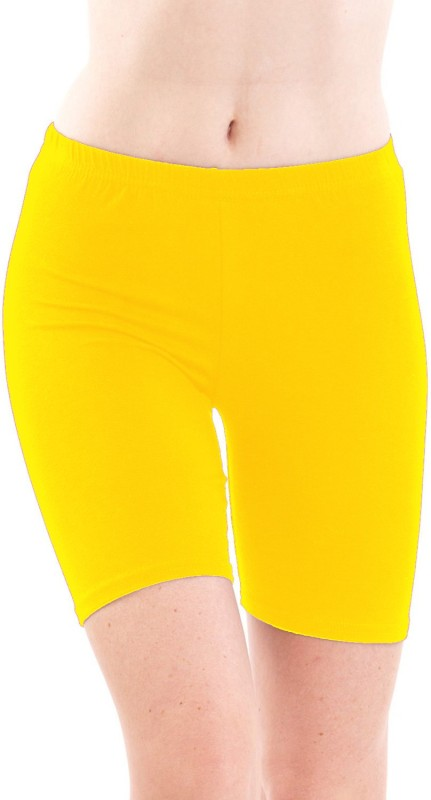 Fashion Line Solid Women's Yellow Tights