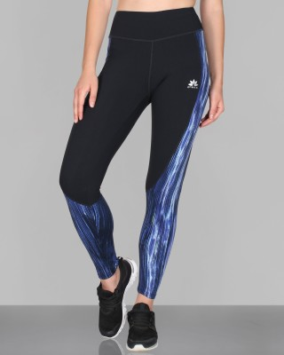 CREEZ Printed Women,s Curved Panel Full Length Sports Tights