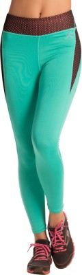 PrettySecrets Solid Women's Green Tights at flipkart