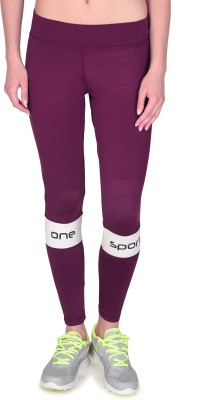 ONESPORT Solid Women's Full Length Tights