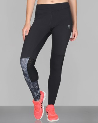 CREEZ Solid Women,s Mesh Inset Full Length Sports Tights