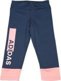 Adidas Printed Girl's Dark Blue Tights