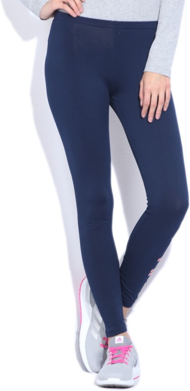 Adidas Printed Women's Dark Blue Tights