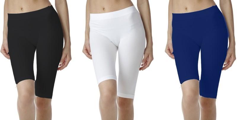 Fashion Line Solid Women's Dark Blue, White, Black Tights