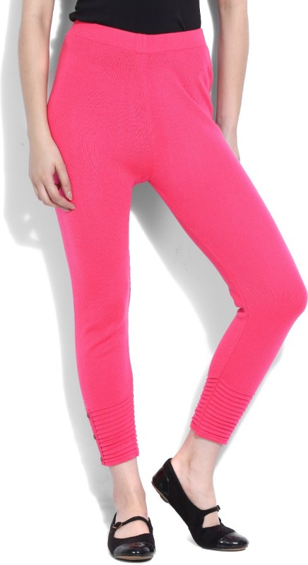 W Solid Women's Pink Tights