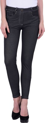 JumpUSA Solid Women's Black Tights at flipkart