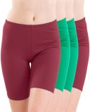 Meril Solid Girls Maroon, Green Tights