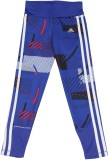 Adidas Printed Girl's White, Blue Tights