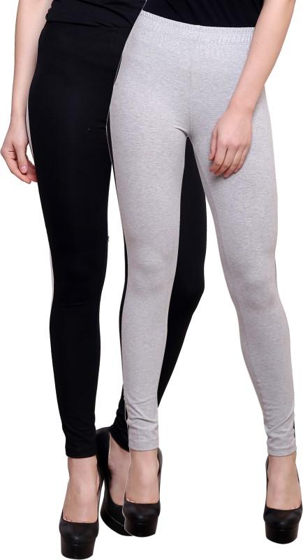 Finesse Striped Women's Black, Grey Tights