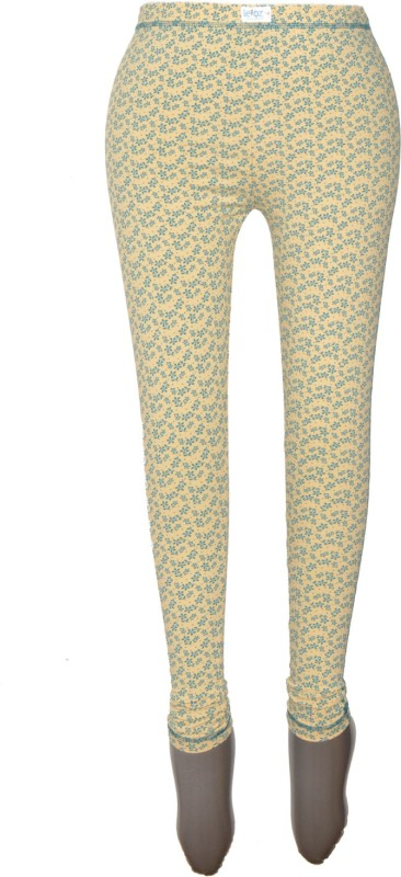 Revinfashions Floral Print Women's Beige Tights