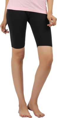 Rham Gold Solid Women's Shorts Tights