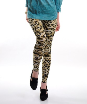 Femmora Animal Print Girl's Full Length Tights