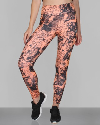 CREEZ Printed Women,s City Map Full Length Sports Tights