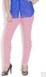 Femmora Striped Girls Orange Tights