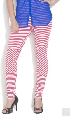 Femmora Striped Women's Full Length Tights