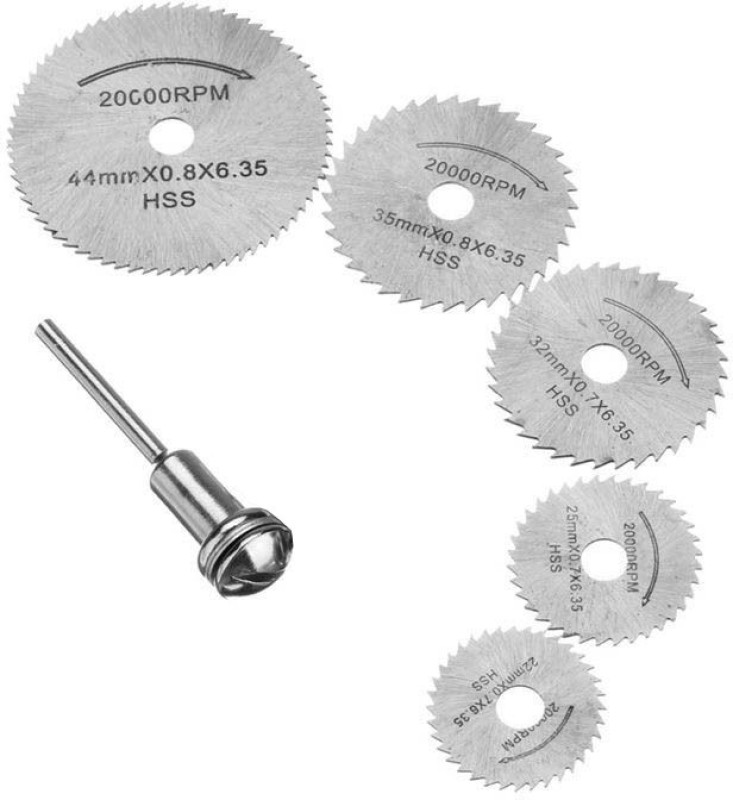 DIY Crafts 6 PCS HSS Circular Wood Cutting Saw Blade Discs Rotary Tool Mandrel Manual Cutter(0 W)