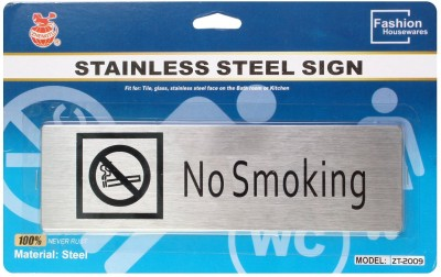 Zhengtu Self Adhesive Stainless Steel No Smoking Metal Signage Board Sign