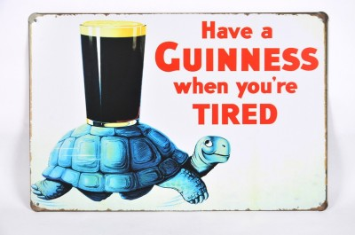 Scrafts Guiness Turtle 20*30(Hbcm) Sign