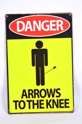 Scrafts Arrows To The Knee 30*20(Hbcm) Sign