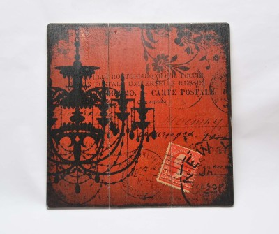 Scrafts Stamp Quote Red 40*40 Sign