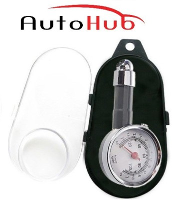 Auto Hub Analog Tire Pressure Gauge with Box Covering