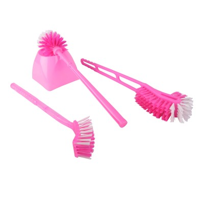 Power Toilet Brush with Holder(Pink)