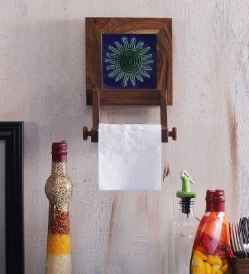 Unravel India Wooden Toilet Paper Holder(Lid Included)