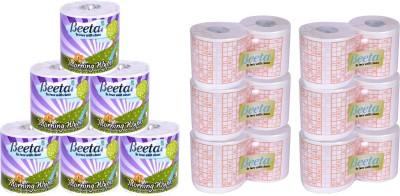 Beeta WYPESPR6TL100M2PLY 12 Toilet Paper Roll