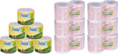Beeta WYPESPR6TL95GMS 12 Toilet Paper Roll