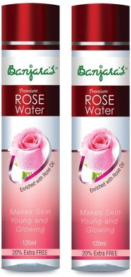 Banjaras Rose Water 120ml Set Of 2 Packs