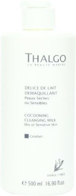 Thalgo Cocooning Cleansing Milk, Dry and Sensitive Skin, 16.90 Fluid Ounce(499.733 ml)