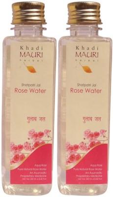 Khadi Natural Rose Water - Pack of 2 - Herbal Skin Toner
