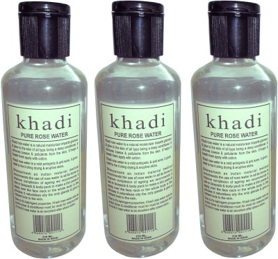 Khadi Herbal Pure Rose water pack of 3 pcs(630 ml)