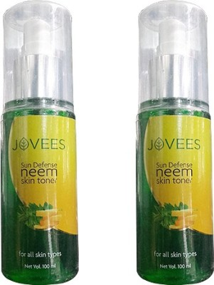 Jovees Sun Defense Neem Skin Toner Pack of 2(100 ml)