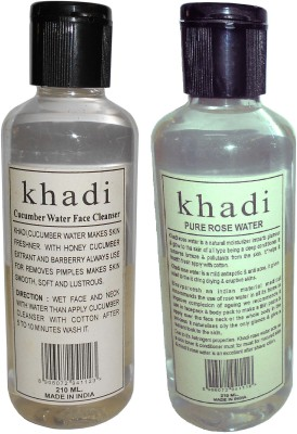 Khadi Herbal Rose & Cucumber water - Twin Pack(420 ml)